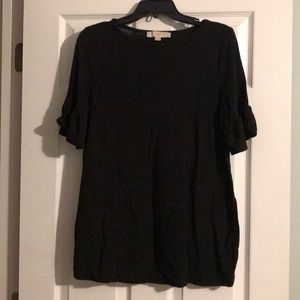 Loft Maternity Black Bell Sleeve Blouse